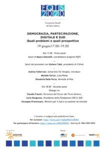 DEMOCRAZIA PARTECIPAZIONE 05-2020