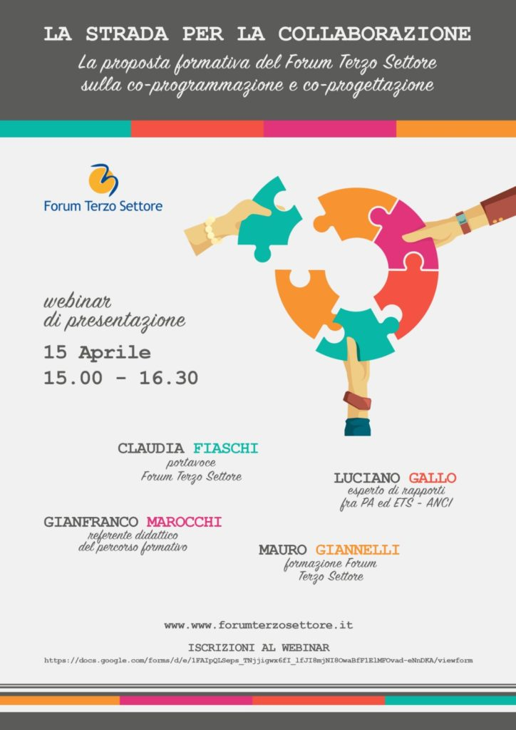 locandina strada collaborazione 15 aprile 2021